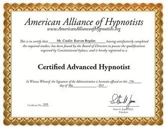 certificat hipnoterapeut