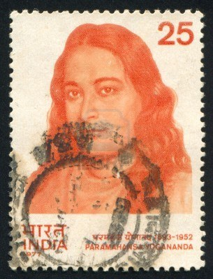 India--Circa-1977-Stamp-Printed-By-India-Shows-Religious-Leader-Paramahansa-Yogananda