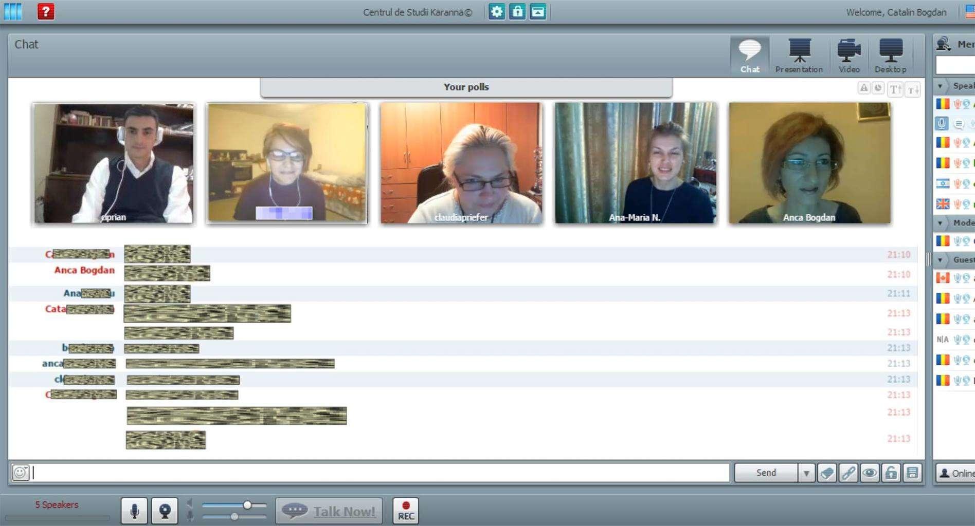 sala de conferinte video online live karanna cursuri