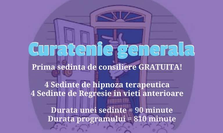 Q2 1 Program Combinat De Hipnoza, Regresie &Amp; Consiliere - Curatenie Generala