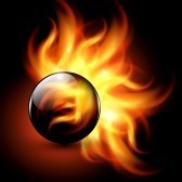 13497530 3D Sphere With Fire Flames Inside As Vector Background 2012 - Anul Selectiei Spirituale