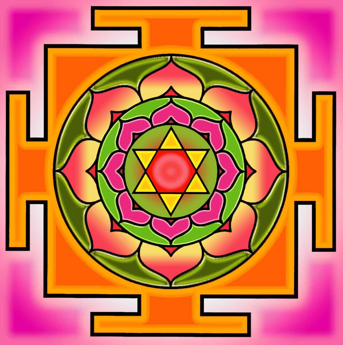 Bhuvaneswari Yantra Color Dasha Maha Vidya – Cele Zece Mari Intelepciuni Cosmice