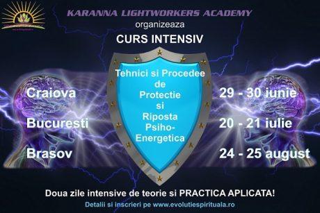 Afis Curs Protectie Psi2 Curs Tehnici Si Procedee De Protectie Si Riposta Psiho-Energetica - Craiova, Bucuresti, Brasov