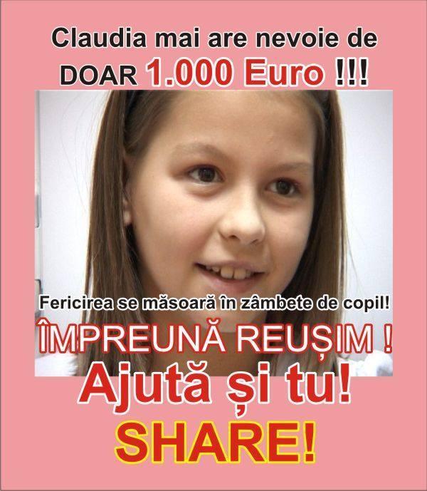 Claudia Donatii Anunt Umanitar