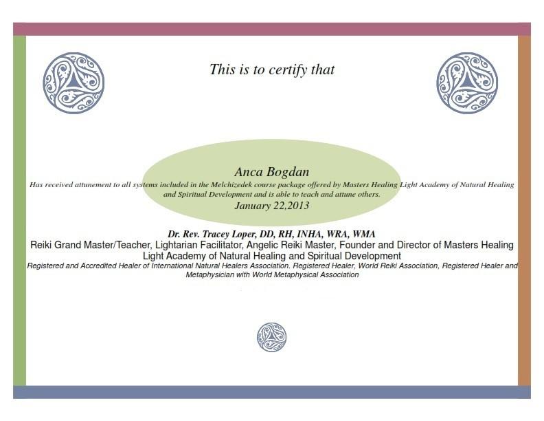 Certificate-Melchisedek