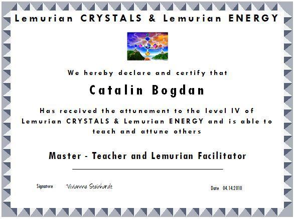 Certificat Lemurian Facilitator
