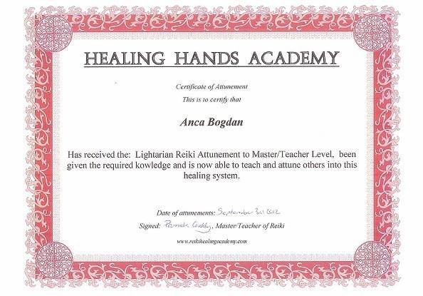 Certificat Lightarian Reiki Master2