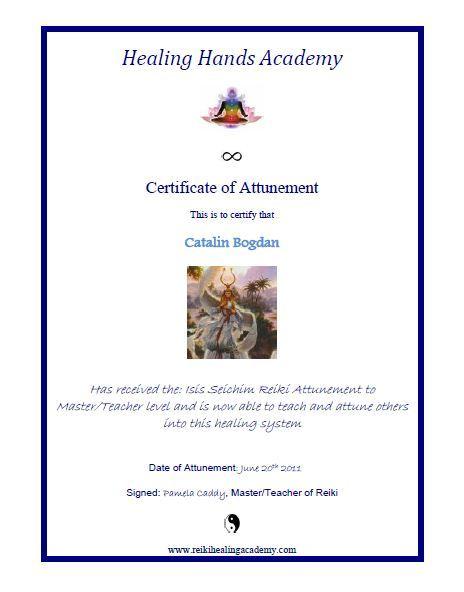 Certificat Isis Seichim