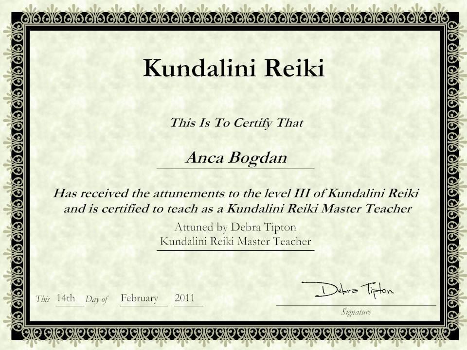 Kundalini-Reiki-Certificate