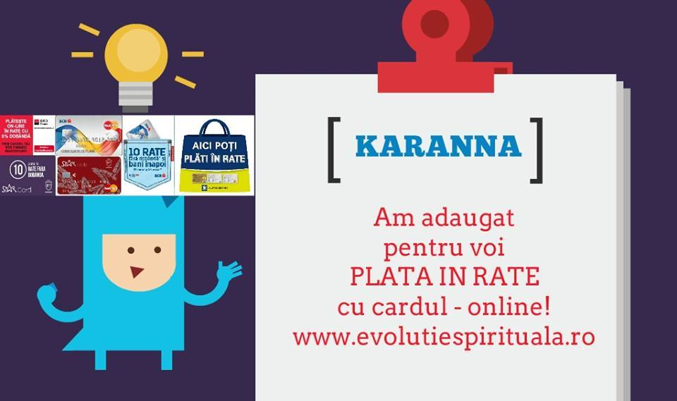 Plata In Rate Magazin Online Karanna Am Introdus Plata In Rate Cu Cardul - Fara Dobanda!