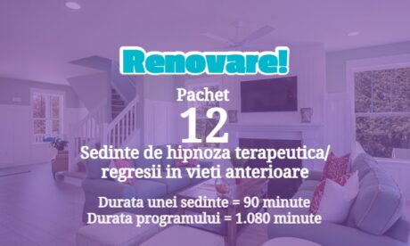 12 Renovare Program Combinat De Hipnoza, Regresie &Amp; Consiliere - Renovare