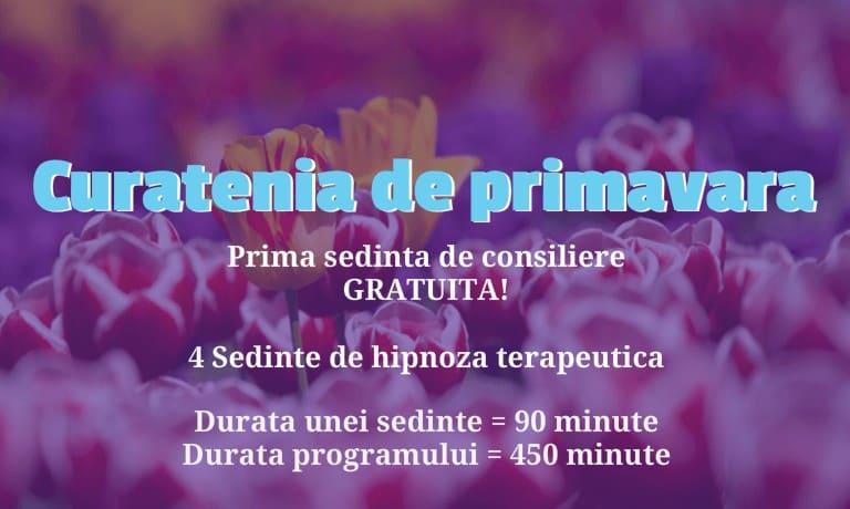 Q1 1 Program Combinat De Hipnoza, Regresie &Amp; Consiliere - Curatenia De Primavara