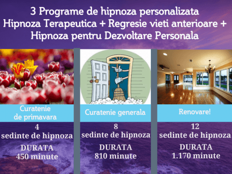 Youzign Program Combinat Hipnoza Terapeutica, Regresie Si Dezvoltare Personala