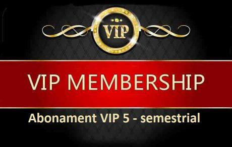 Semestrial Abonament Vip 5 - Semestrial