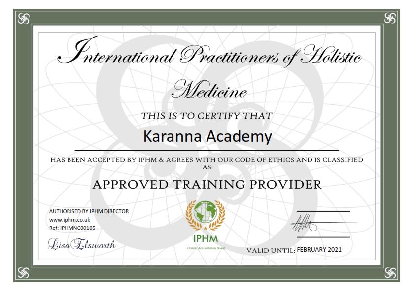 Certificate Karanna Academy 20 001 Certificate &Amp; Acreditari Karanna Academy©