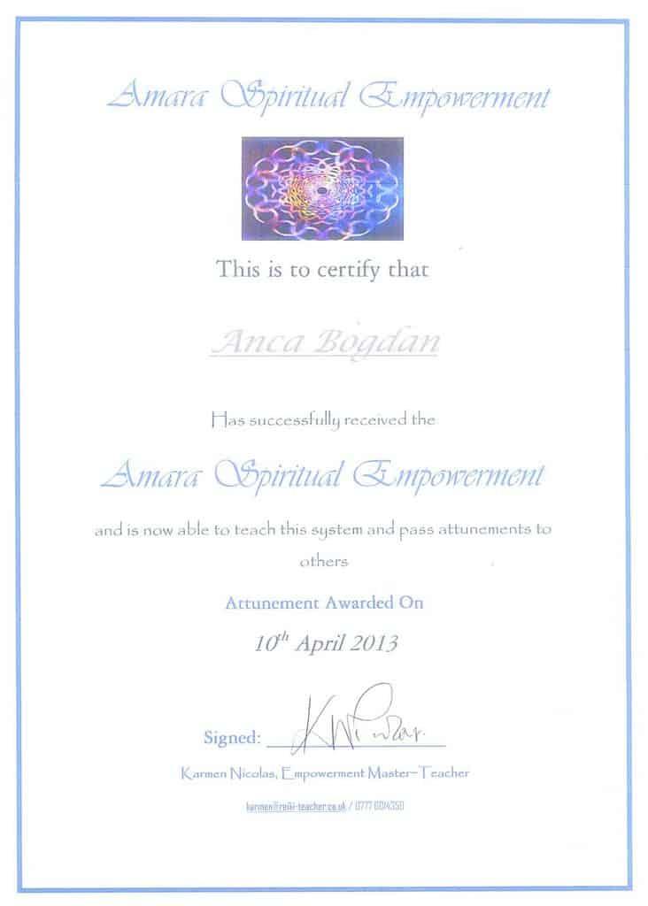 Diploma Amara Anca