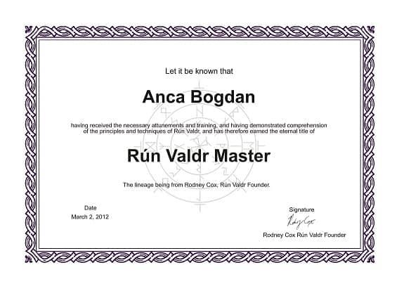 Certificat Run Valdr Anca Bogdan