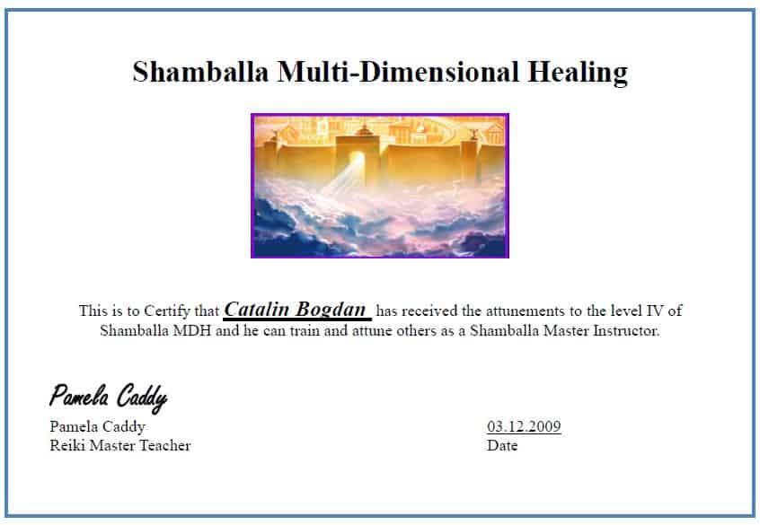 Shamballa Certificate