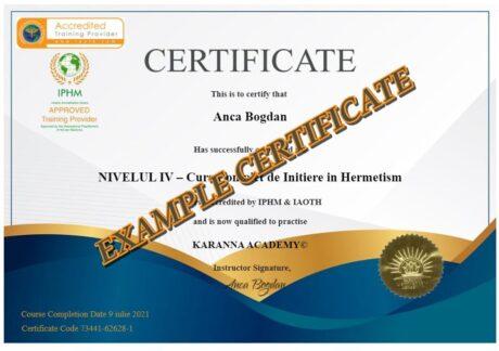 Certificat Exemplu Karanna Curs Protectie Psi (Psiho-Energetica)